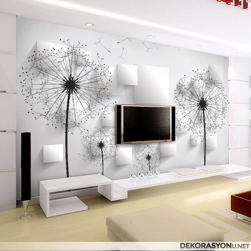 beyaz tv arkas duvar k d ev dekorasyonu. Black Bedroom Furniture Sets. Home Design Ideas