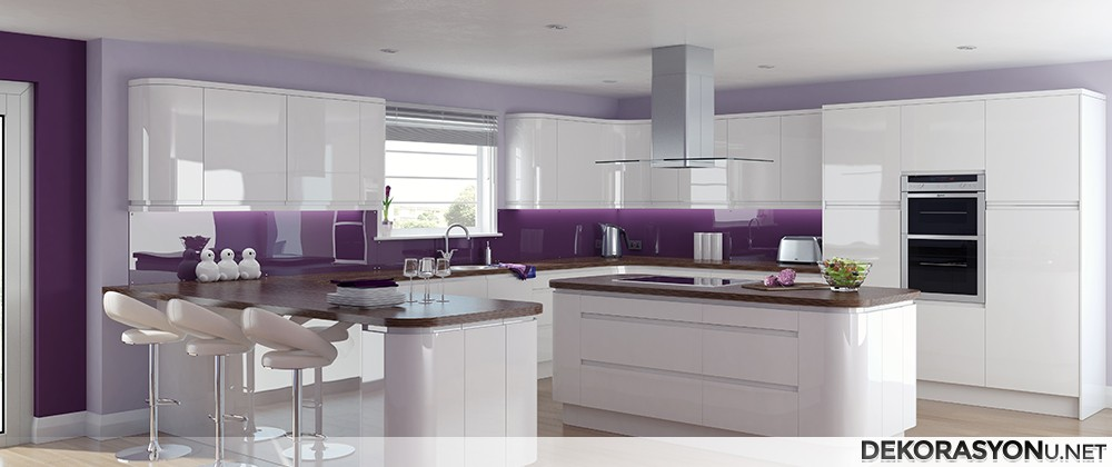 Kitchens In Violet White Paint